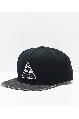 Бейсболка Neff X Wash Black Snapback Hat 528 варенка