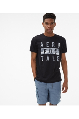 Футболка AEROPOSTALE Camo Stacked 7118 00932123 Black Fox