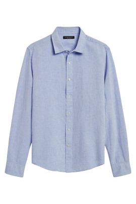 Сорочка лляна Banana Republic 5326160620 Light Blue