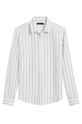 Сорочка лляна Banana Republic 5326160520 White & Navy Stripe